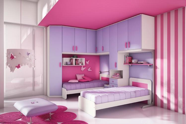 Dormitorio Rosa Y Blanco22