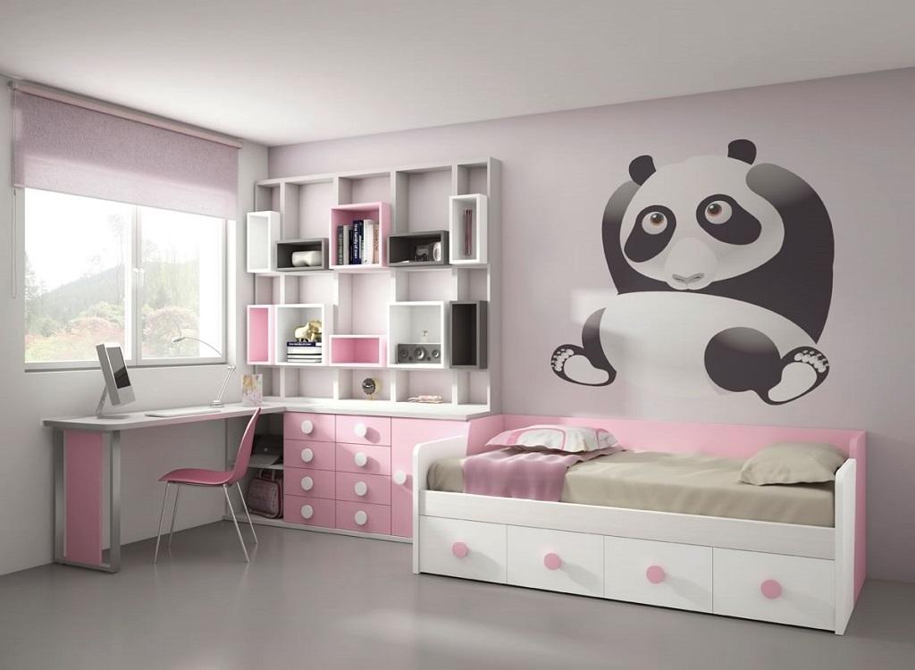 Dormitorio rosa y blanco24 - Dormitorios juveniles blancos ...