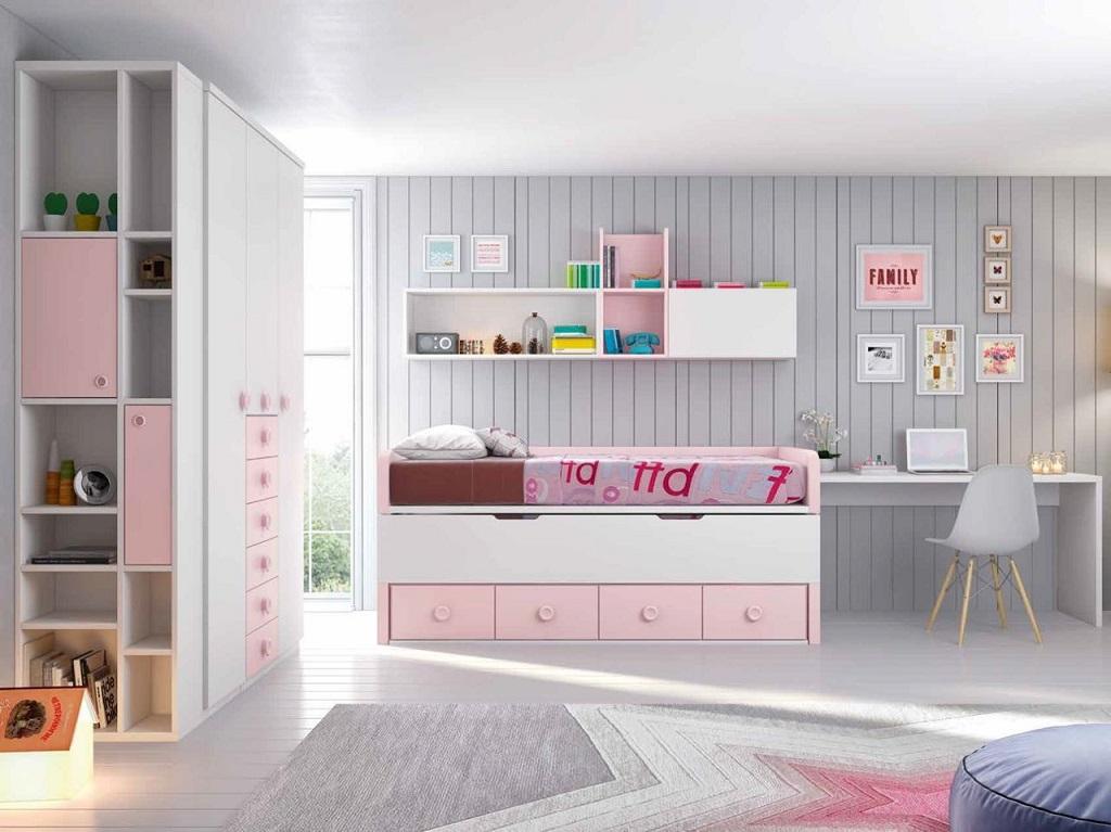 Dormitorio rosa y blanco31 for Dormitorio rosa