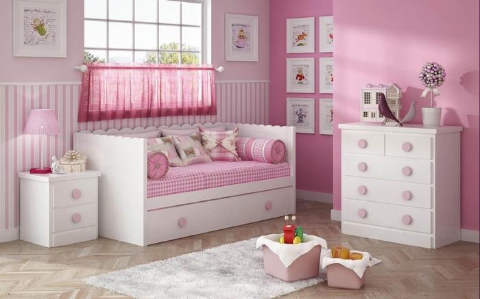 Dormitorio Rosa Y Blanco39