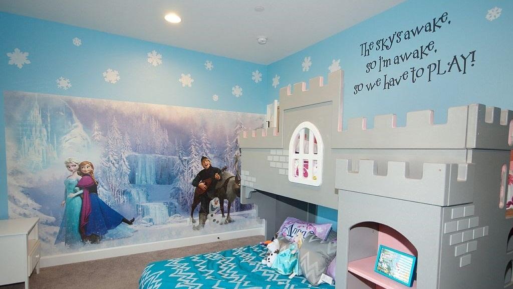 Habitaci n tem tica inspirada en 39 frozen 39 for Habitaciones para ninas frozen