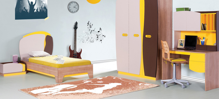alfombras para una habitacion juvenil
