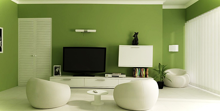 Aplicaciones que te ayudan a elegir el color de las paredes for Green colour living room ideas