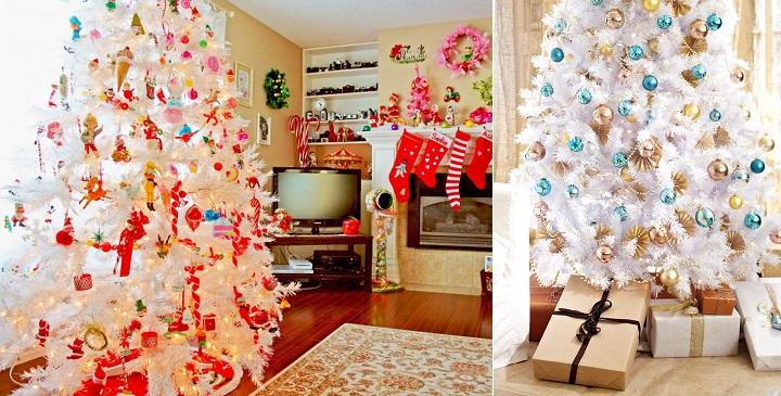 C mo decorar rboles de navidad blancos - Como decorar un arbol de navidad moderno ...