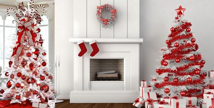 C mo decorar rboles de navidad blancos - Arbol de navidad en blanco ...