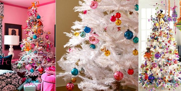 C mo decorar rboles de navidad blancos - Arboles de navidad rosa ...