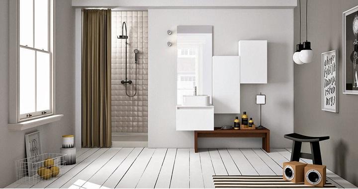 Baño Pequeno Alargado:Cuartos de baño de estilo nórdico