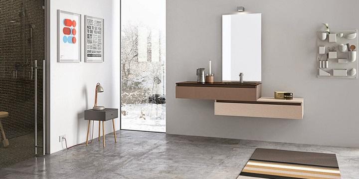 Baño Blanco Suelo Madera:Cuartos de baño de estilo nórdico