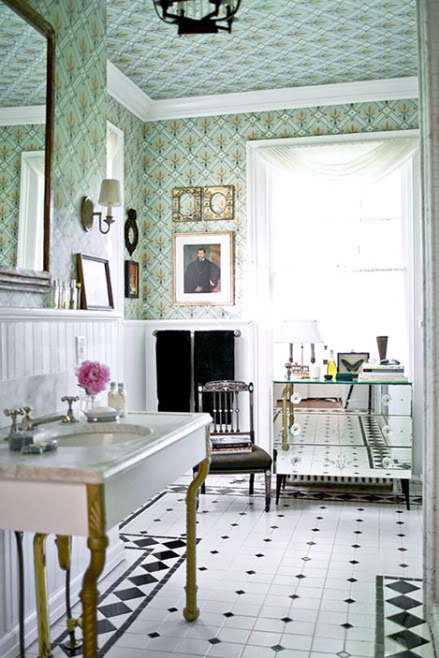 Iluminacion Baño Vintage:Vintage Bathroom Design