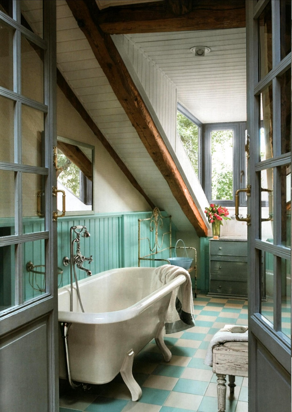 Iluminacion Baño Vintage:Fotos de baños vintage (32/52)