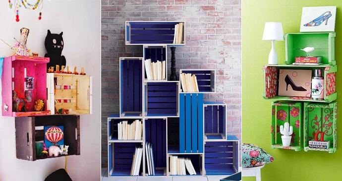 Decorar con cajas de fruta for Muebles con cajas de fruta