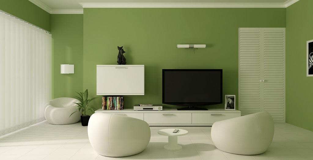 comedor paredes verdes