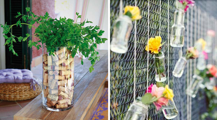 ideas de decoracion con objetos reciclados