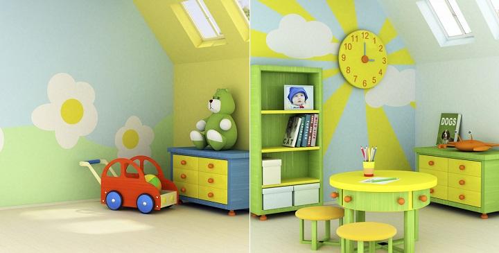 Ideas para pintar una habitaci n infantil - Ideas para pintar habitaciones ...