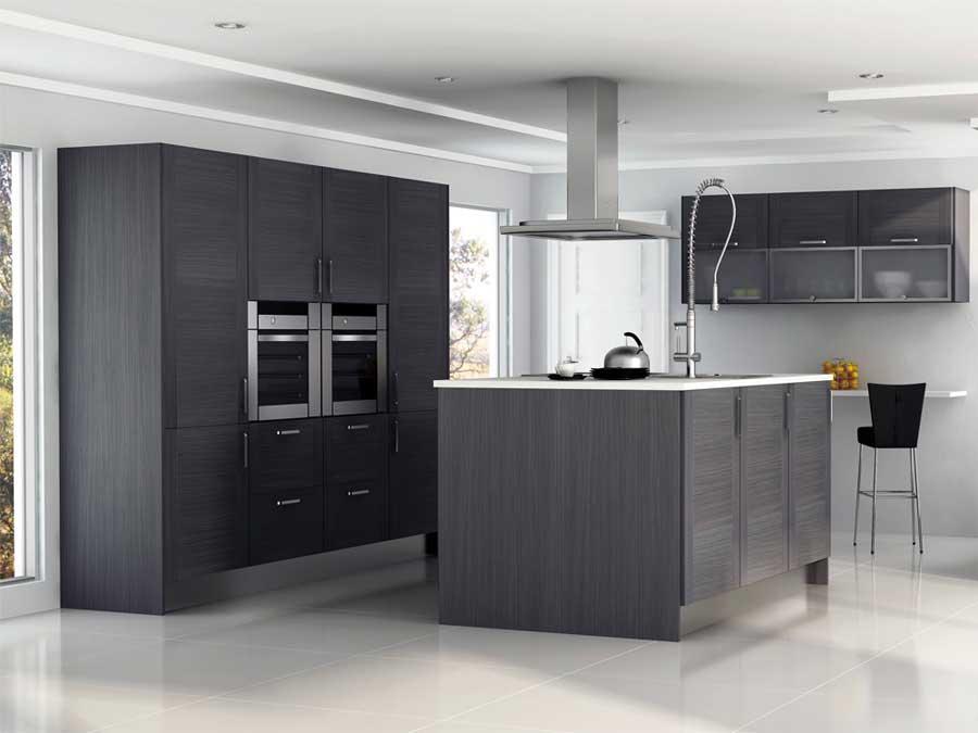 Cocina gris1 for Muebles de cocina gris
