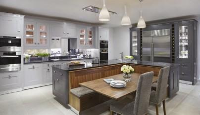 Fotos de cocinas de color gris - Cocinas pintadas ...