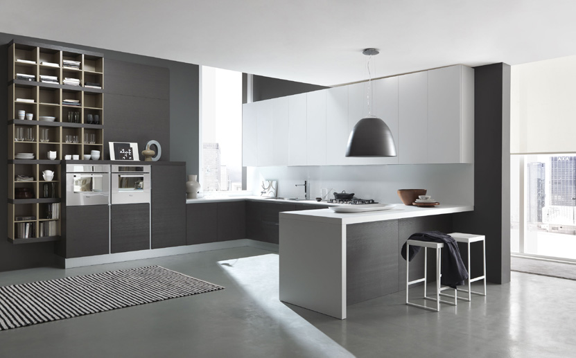 Fotos de cocinas de color gris for Cocinas grises