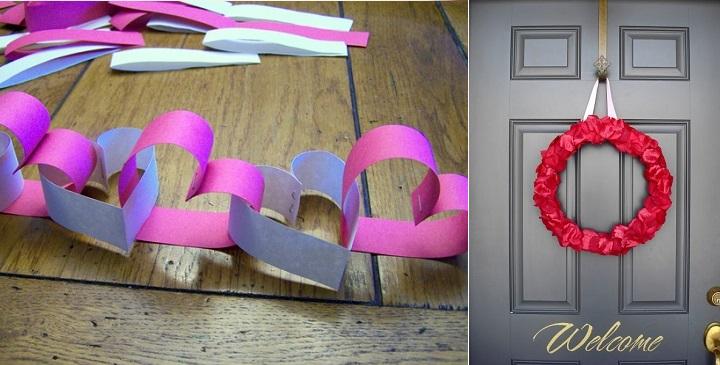 Manualidades para decorar en san valent n for Decoracion de pared para san valentin