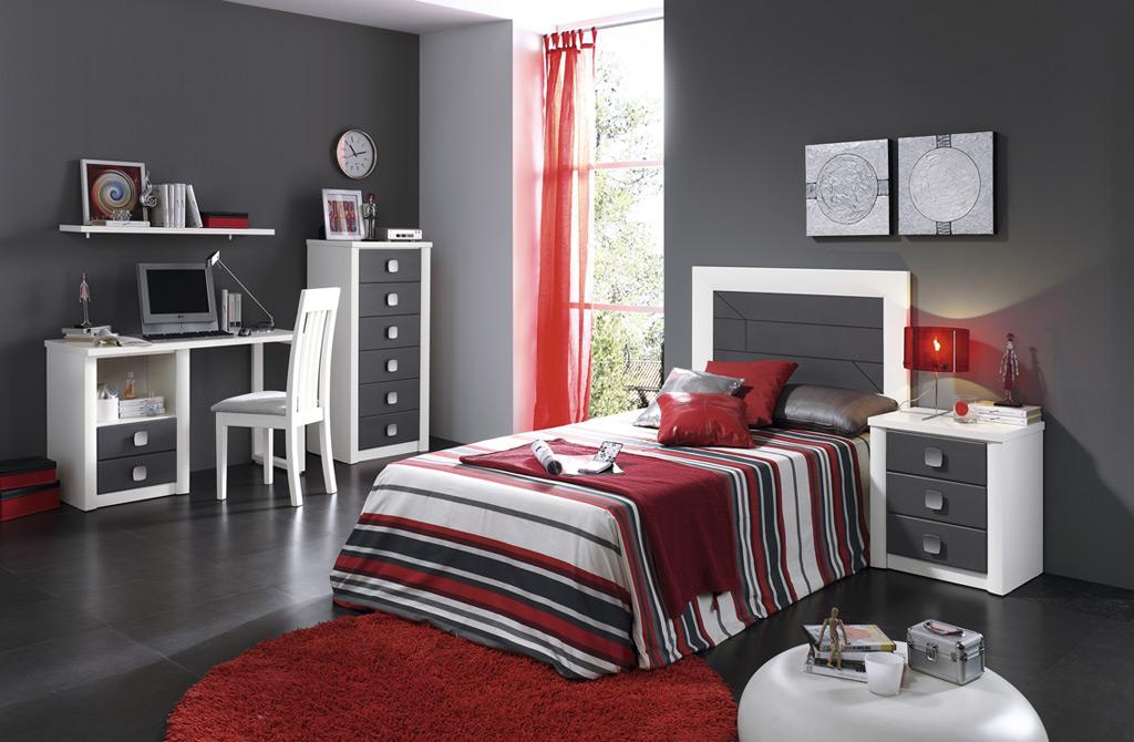 Dormitorio Juvenil Con Litera Cama Abajo Con Cajones Y - Muebles Rey ...