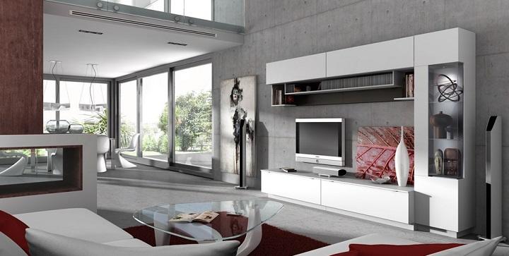 Fotos de salones modernos - Salones con alfombras ...