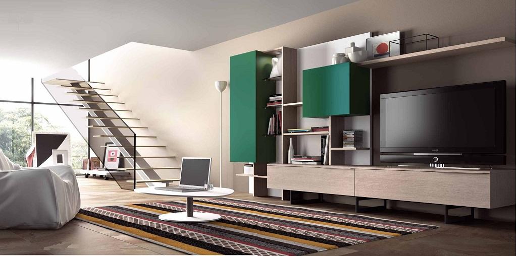 Salones modernos22 - Salones con escaleras ...