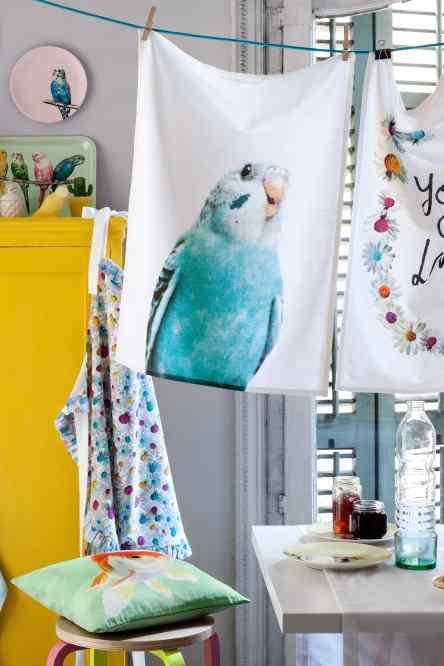 Trapo de cocina y delantal de flores - Trapo de cocina ...