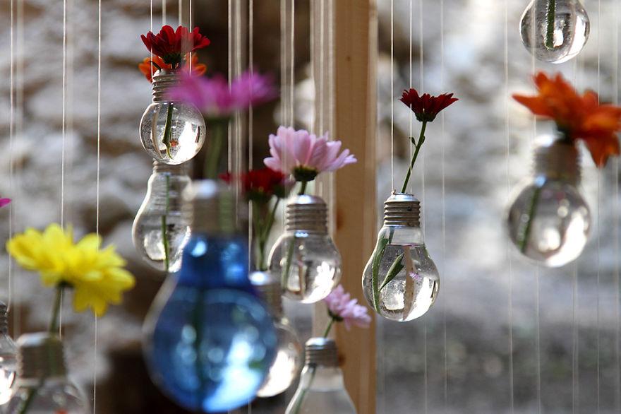 bombillas viejas recicladas