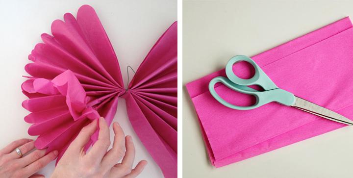 C mo hacer guirnaldas y pompones de papel para una fiesta - Como hacer guirnaldas de navidad ...