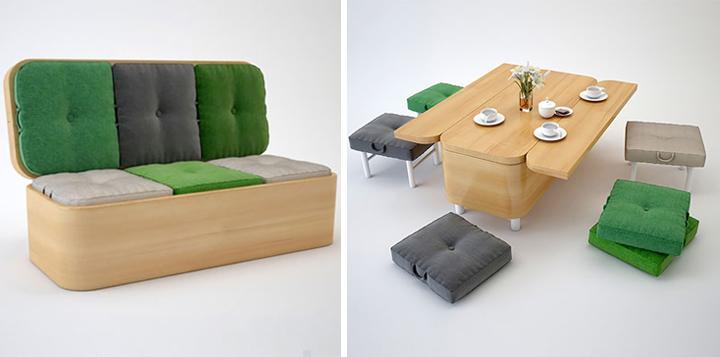 Consejos para ahorrar espacio en el sal n - Mesas para salones pequenos ...