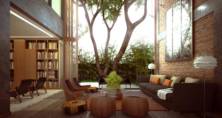 habitaciones inspiradas en la naturaleza