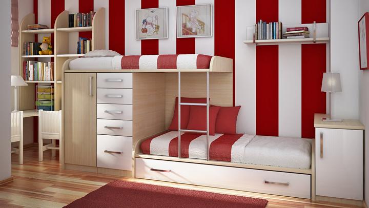 muebles para habitaciones infantiles pequenas