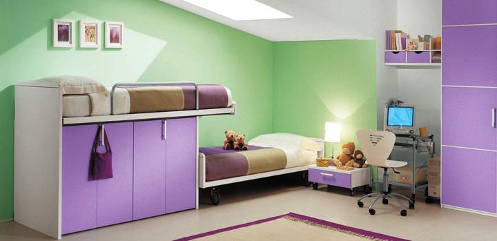 Muebles para habitaciones infantiles peque as - Habitaciones infantiles compartidas pequenas ...