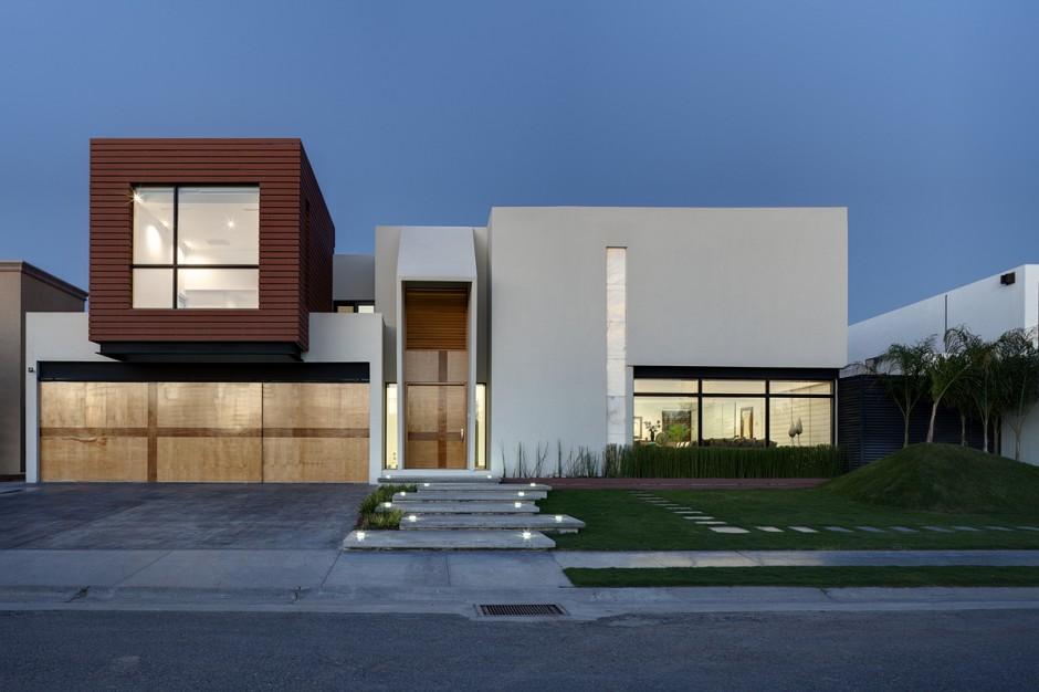 Baño Vestidor Minimalista:House Facade Design