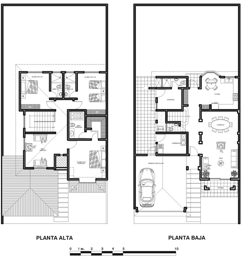 Planos de casas de dos plantas for Casa de dos plantas wifi