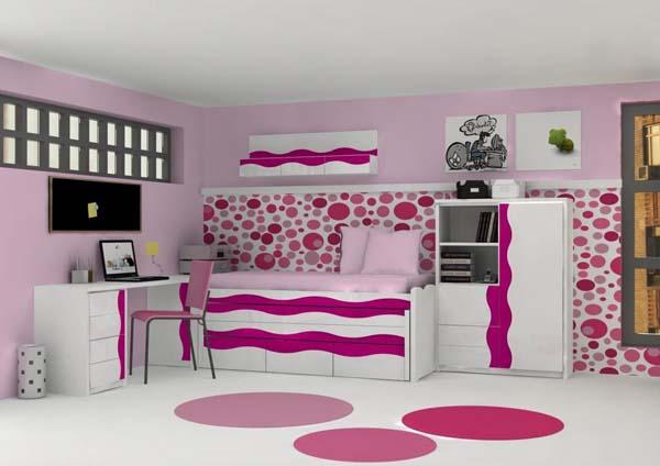 Fotos de dormitorios de color rosa Habitaciones juveniles rosa