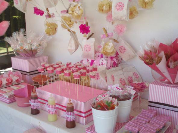 De mesas de dulces imagui for Como decorar mesa de postres para baby shower