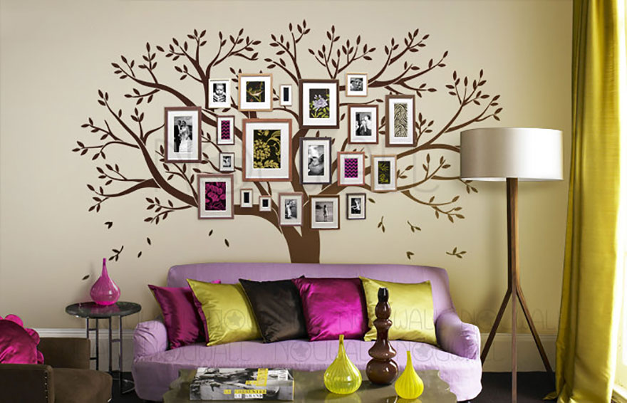 arbol familiar pared