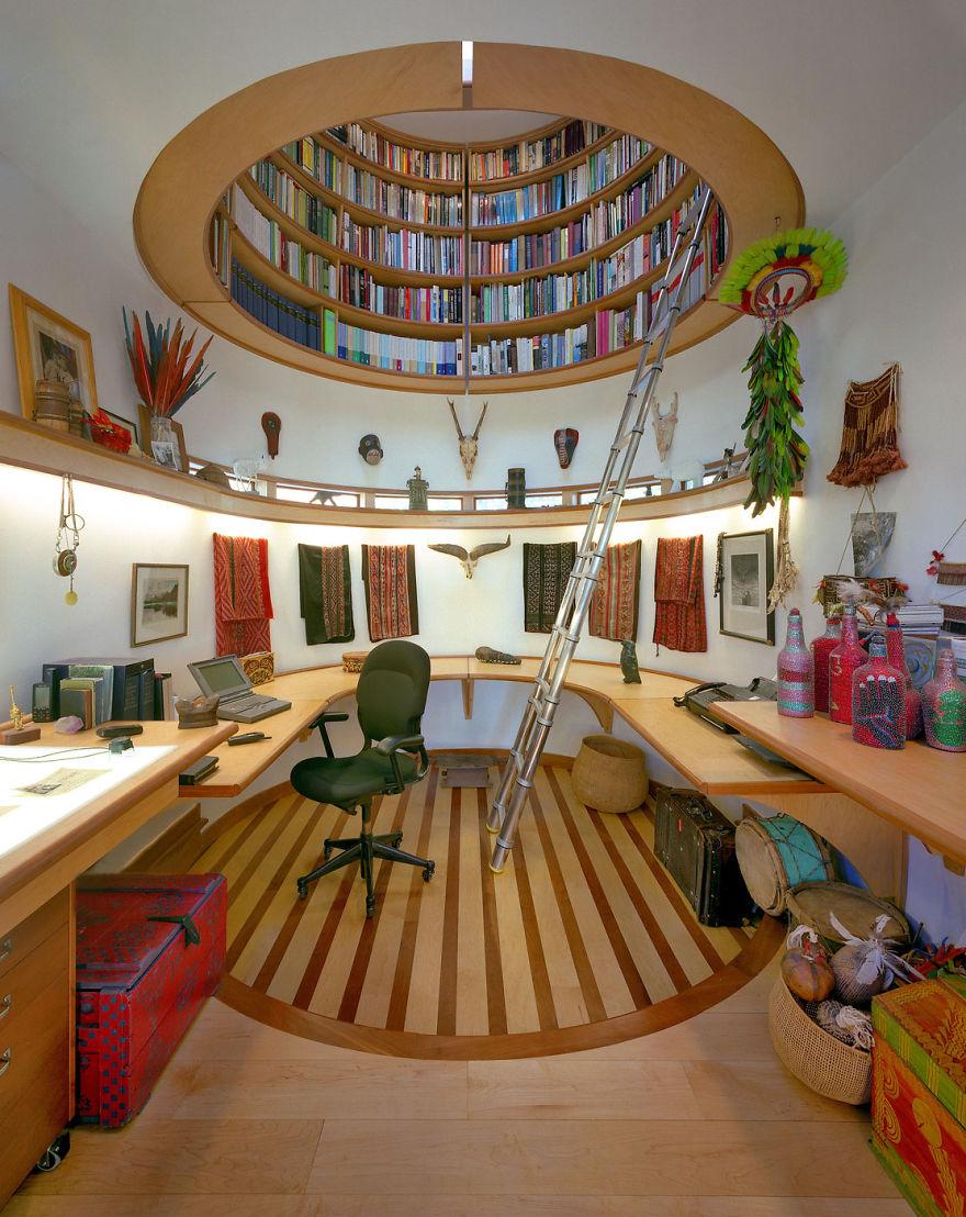 biblioteca en el techo