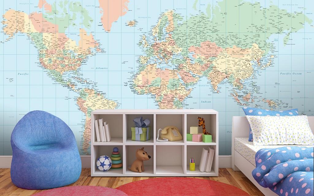 mapamundi dormitorio