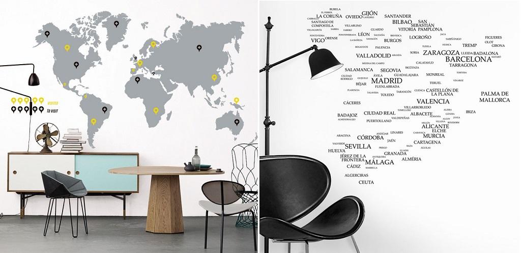 mapas en formato vinilo