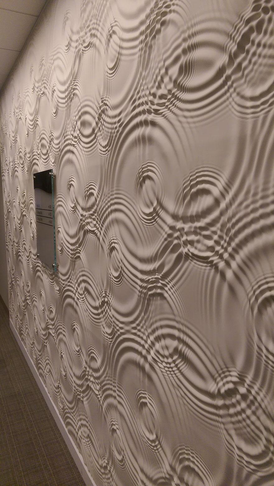 pared con ondas liquidas