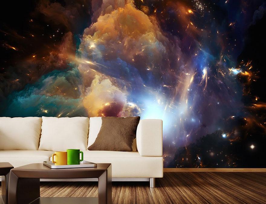 pared mural cosmica