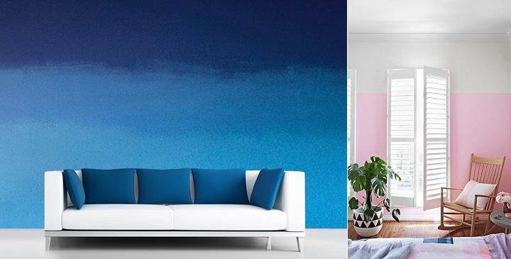 C mo pintar paredes en degradado - Como mezclar colores para pintar paredes ...