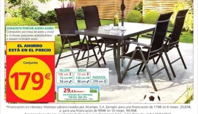 Alcampo cat logo terraza y jard n 2015 - Conjunto mesa y sillas cocina carrefour ...