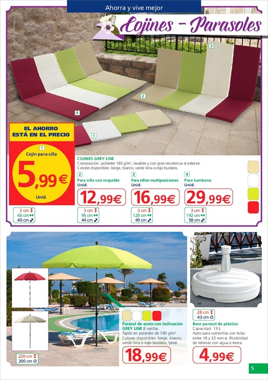 Alcampo cat logo terraza y jard n 2015 for Catalogo piscinas alcampo