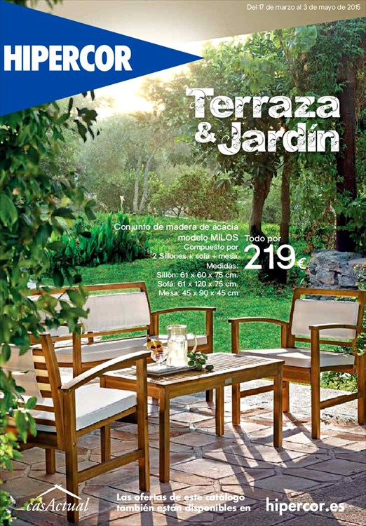 Terraza y jardin hipercor1 for Catalogue jardin 2015 honda