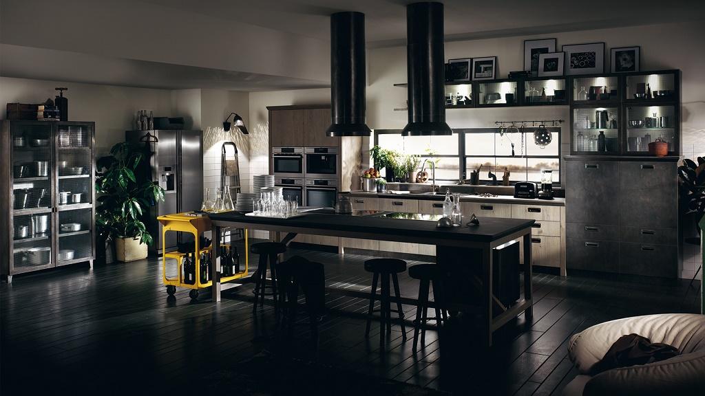 Cocinas de estilo industrial for Barra estilo industrial