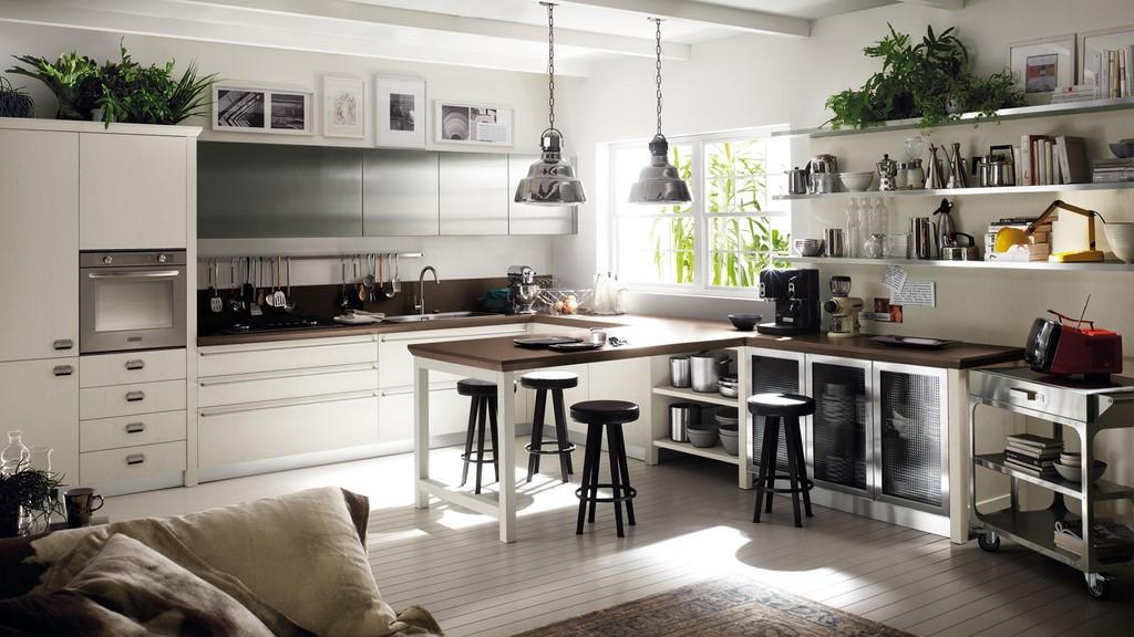 Cocinas de estilo industrial - Tipos encimera cocina ...