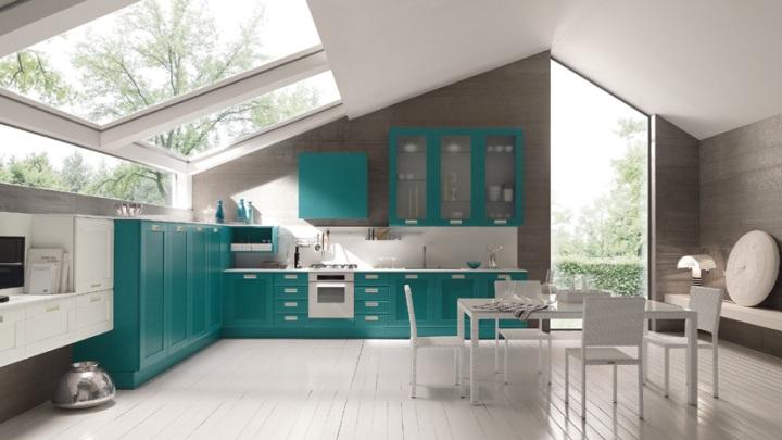 Cocinas de color turquesa - Color turquesa en paredes ...