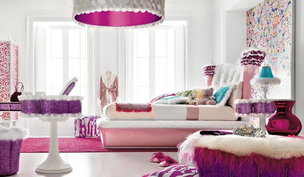 decoracion violeta